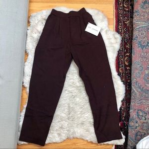 St. John Collection Wool Cigarette Tailored Pants
